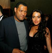 Laurence Fishburne and Lindsay Lohan at the AFI FEST presented by Audi opening night gala of