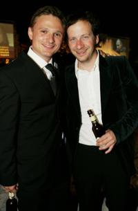 Florian Lukas and Fabian Busch at the German Film Awards.