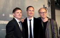 Florian Lukas, Benno Fuermann and Simon Schwarz at the Berlin premiere of