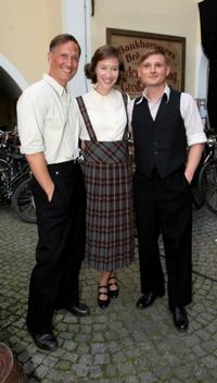 Benno Fuermann, Johanna Wokalek and Florian Lukas at the photocall of