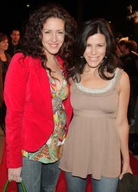 Joely Fisher and her sister Tricia Leigh Fisher at the premiere of