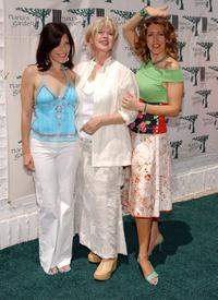 Tricia Leigh Fisher, Connie Stevens and Joely Fisher at the opening of Nana's Garden.