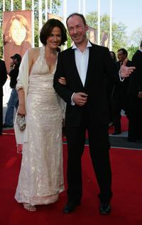 Ulrich Noethen and Guest at the German Film Awards.