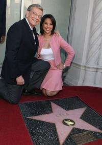 Hal Fishman and Cher Calvin at the Hollywood Walk of Fame.