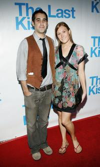 Schuyler Fisk and Joshua Radin at the listening party for