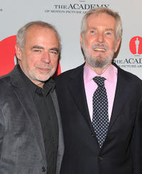 Richard Russo and writer/director Robert Benton at the Academy of Motion Pictures and Arts tribute to director and writer Robert Benton in New York.