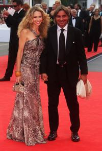 Yvonne Scio and Stefano Dammico at the 64th Annual Venice Film Festival.
