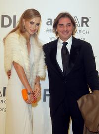 Yvonne Scio and Stefano Dammicco at the amfAR's Inaugural Cinema Against AIDS Rome.