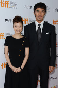 Aya Ueto and Hiroshi Abe at the premiere of