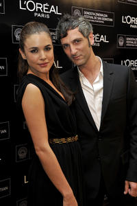 Adriana Ugarte and Ernesto Alterio at the Premio Loreal Revelacion del Cine Espanol Awards during the 58th San Sebastian International Film Festival.