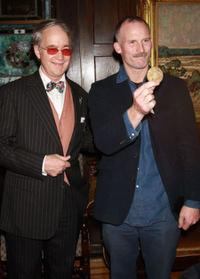 Aldon James and Matthew Barney at the National Arts Club in New York City.