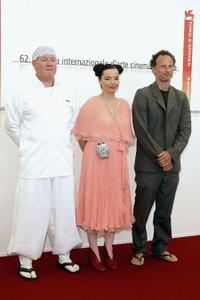 Peter Strietmann, Bjork and Matthew Barney at the photocall of