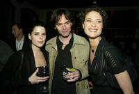 Neve Campbell, Billy Burke and Shalom Harlow at the Fox All-Star party for the 2004 TCA Winter Tour.