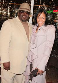 Cedric the Entertainer and his wife Lorna Wells at the premiere of Universal's