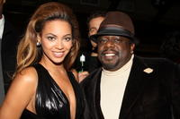 Beyonce Knowles and Cedric the Entertainer at the after party for the New York premiere of