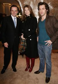 Stanislas De Quercize, Gwendoline Hamon and Frederic Diefenthal at the inauguration of the renovated Van Cleef and Arpels salon.