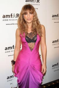 Jennifer Esposito at the AmfAR's 10th Annual New York Gala.