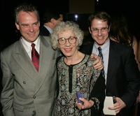 Director Doug Hughes, Ann Guilbert and assistant director Mark Schneider at the after party of the opening night of