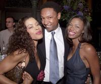 Golden Brooks, Reggie Hayes and Jill Marie Jones at the party for UPN's primetime line-up.