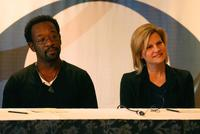 Lennie James and Carol Barbee at the 2007 Winter Television Critics Association Press Tour.