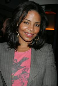 Sanaa Lathan at the grand opening of Equinox Fitness Club.