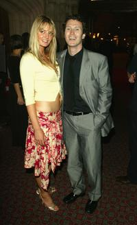 Nick Moran and his girlfriend at the after party of the European premiere of