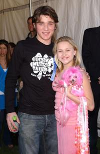 Trevor Morgan and Skye McCole Bartusiak at the 4th Annual Nuts For Mutts dog show.