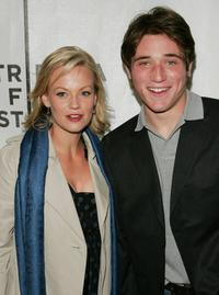 Samantha Mathis and Trevor Morgan at the premiere of