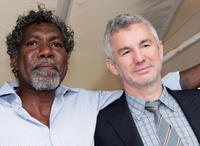 David Ngoombujarra and Baz Luhrmann at the world premiere of