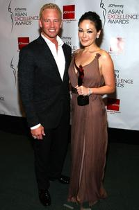 Ian Ziering and Lindsay Price at the 2008 JCPenney Asian Excellence Awards.