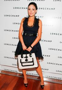 Lindsay Price at the Longchamp's 60th Anniversary celebration.