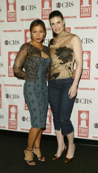 Daphne Rubin-Vega and Idina Menzel at the 2004 Tony Awards Nominees Press Reception.