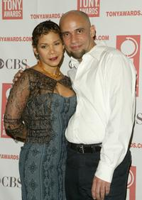Daphne Rubin-Vega and Nilo Cruz at the 2004 Tony Awards Nominees Press Reception.