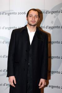 Claudio Santamaria at the Nastri D'Argento Ceremony.