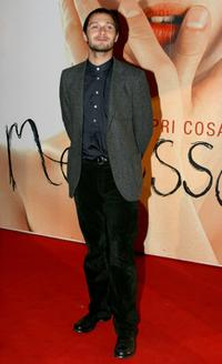 Claudio Santamaria at the Italian premiere of