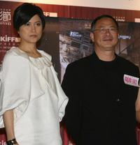 Maggie Shiu and Johnny To at the 31st Hong Kong International Film Festival (HKIFF).
