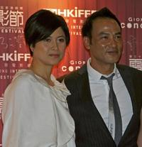 Maggie Shiu and Simon Yam at the 31st Hong Kong International Film Festival (HKIFF).