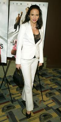 Tia Texada at the private screening of