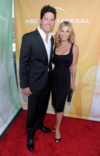 Michael Trucco and Sandra Hess at the NBC Universal's 2010 TCA Summer party.
