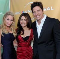 Virginia Williams, Sarah Shahi and Michael Trucco at the NBC Universal's 2010 TCA Summer party.