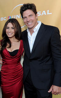 Sarah Shahi and Michael Trucco at the NBC Universal's 2010 TCA Summer party.