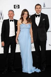 Patrick Cox, Elizabeth Hurley and David Walliams at the amfAR's Cinema Against AIDS 2009 benefit during the 62nd Annual Cannes Film Festival.
