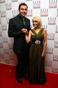 David Walliams and Kylie Minogue at the Elle Style Awards 2008.