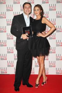 David Walliams and Lisa Snowdon at the Elle Style Awards 2009.