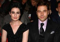 Erin O'Connor and David Walliams at the Vivienne Westwood Red Label show during the London Fashion Week a/w 2009.