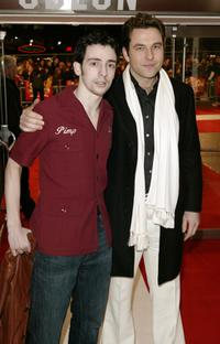 Ralph Little and David Walliams at the UK premiere of