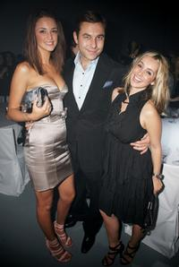 Lauren Budd, David Walliams and Louise Redknapp at the after party of Elle Style Awards 2009.