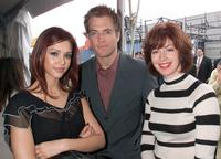 Jessica Alba, Michael Weatherly and Dana Delaney at the Fox 2001 Upfront.