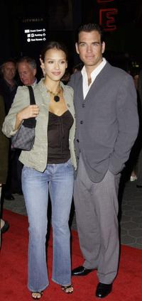 Jessica Alba and Michael Weatherly at the premiere of