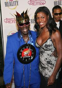 Flavor Flav and Omarosa Manigault-Stallworth at the Reality Remix Really Awards.